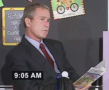 Bush read to kids while the towers burned