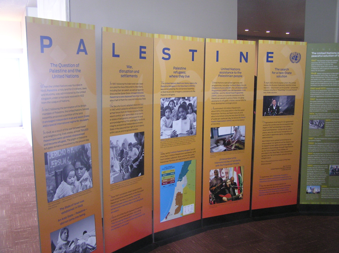 UN display about Palestine