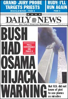 New York Post and Daily News covers, May 2002